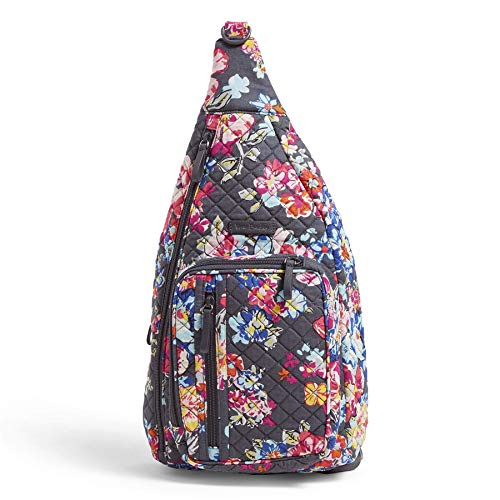Vera Bradley Women's Signature Cotton Sling Backpack, Pretty Posies, One Size