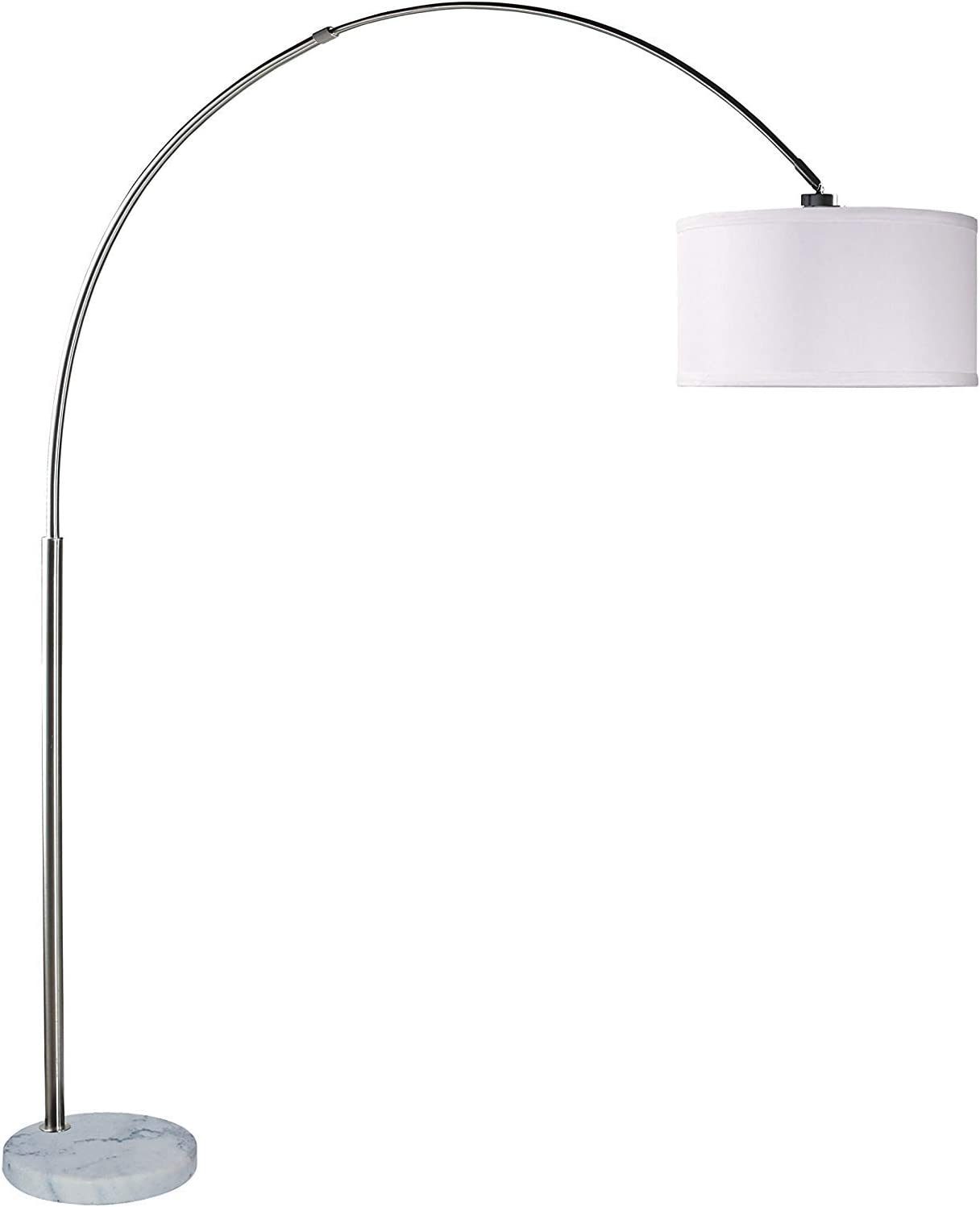 SH Lighting 6938 Brush Steel Arching with Lamp Super sale period limited Max 63% OFF Marbl Floor White