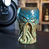 SUMMIT COLLECTION Cthulhu Creature Beer Ceramic Pint Glass 16 fl oz Novelty Drinkware (Blue Green)