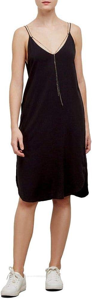 Kenneth Cole Women's Chain Detail Dress Dress, Black, S