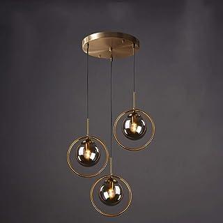 DLGGO Spherical Living Room Ceiling Lamp Decoration Country Style Ball Glass Chandelier Gold Finish Modern Industrial Eleg...
