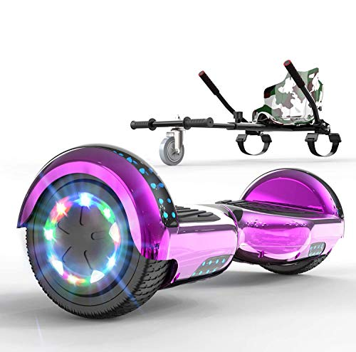 SOUTHERN WOLF Hoverboards für Kinder 6.5 Zoll-LED & Bluetooth mit 350W*2 Motorbeleuchtung,LED, Self Balance Scooter Elektroscooter Elektro Skateboard,mit Go-Kart,Hoverkart