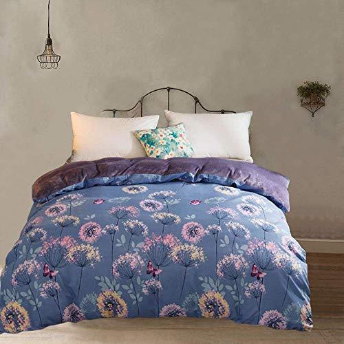 JUNETian Single Double Wash Coton Rembourré Une Pièce Double Velvet Cover Home Textile Literie Quilt (Color : D, Size : 200 * 230cm)