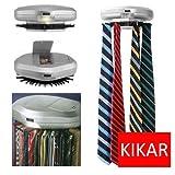 KIKAR Electric Motorised Tie Rack | Wall Mounted Tie/Belt/Scarf Organizer