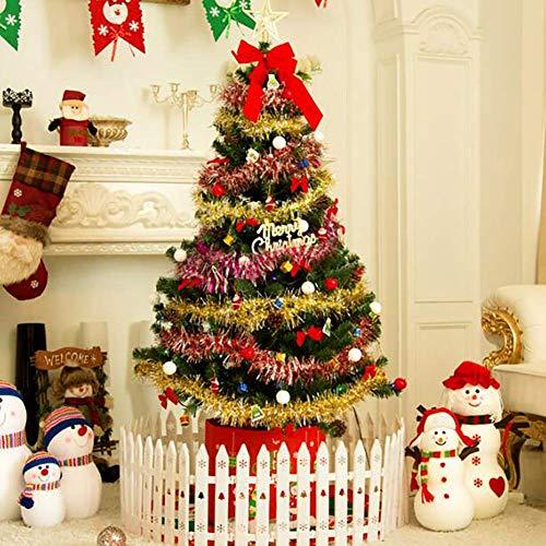 ZYQHJKLHK Árbol de Navidad Artificial con bisagras con Decoraciones, Mesa de plástico,...