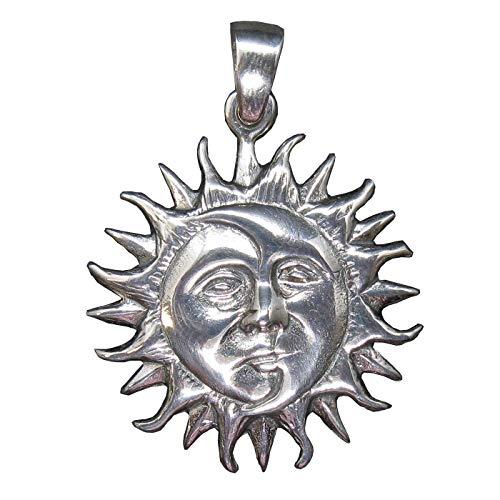 Ciondolo in Argento Sterling Solido Marchiato 925 Sole e Luna PE001469 Empress