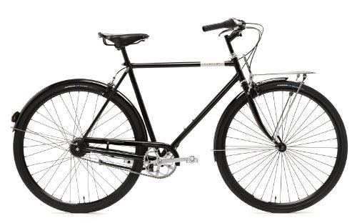 Creme Citybike Caferacer Men Doppio 7 Speed Dynamo, Black, 60.5, BI-CRE-4109