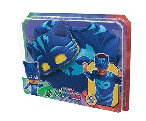 Giochi Preziosi - Super Pigiamini Pj Masks Costume Travestimento Gattoboy