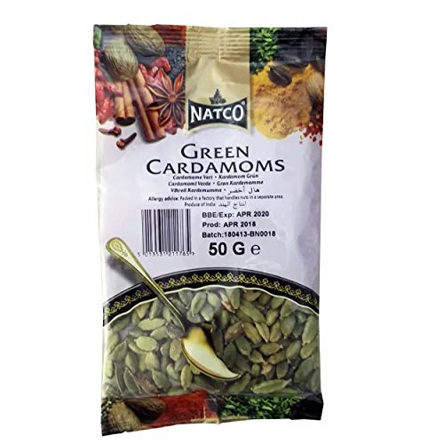 Natco Green Cardamom- cardamomo verde 50g