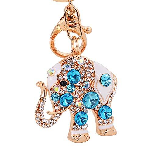 Luxus-Elefant Schlüsselanhänger Handtasche hanging Schnalle Wallet Accessories Schlüsselanhänger (blau)-Samtlan