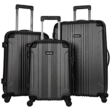 Kenneth Cole Reaction Out Of Bounds 3-Piece Lightweight Hardside 4-Wheel Spinner Luggage Set: 20  Carry-On, 24 , & 28