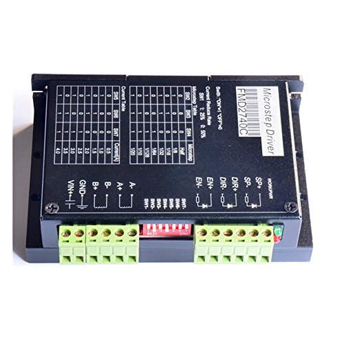 ELEOPTION 2 Phase Hybrid Stepper Motor Driver FMD2740C CNC Controller Supports 8 Kinds of Subdivision for 3D Printer Hobby CNC Router XYZ