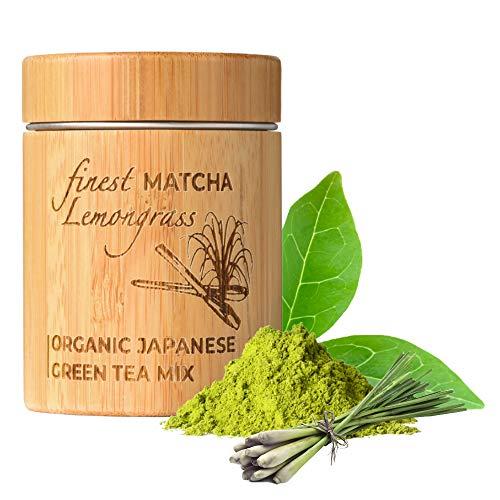 MATCHITA - Té Verde Matcha Citronela Orgánico en Polvo | 100% EU-BIO | Grado Más Alto | Bebida Japonesa de Grado Ceremonial | Bebidas Frías y Calientes | Contenedor de Bambú | 30g