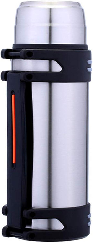 HYwot Bouteille d'eau à Double paroi os Thermos isolé par Vide en Acier Inoxydable, Flacon pour Tasse de Boissons Chaudes et Froides Mug Tasse à café de Voyage,Natural