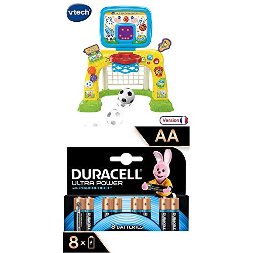 Interactive Baby Multisport(French) + Duracell Ultra AA Alkaline Batteries, 1.5 V LR06 MX1500, Pack of 8