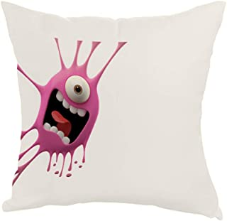 Cartoon character Printed Pillow, Fabric Canvas 40X40 cm