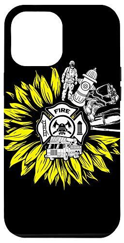 iPhone 12 Pro Max Firefighter Sunflower Fire Department Volunteer Fireman Gift Case