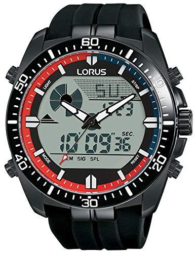 Lorus Digital Man Reloj para Hombre Digital de Cuarzo con Brazalete de Silicona R2B05AX9