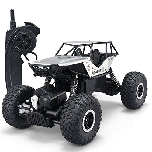 SZJJX RC Cars Off-Road 4WD 2.4Ghz High Speed 1:14 Radio Remote Control Rock Vehicle Crawler Truck Racing Cars Electric Fast Race Buggy Hobby Car Silver