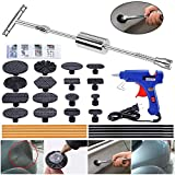 YOOHE Paintless Dent Repair Puller Kit - Dent Puller Slide Hammer T-Bar Tool with 16pcs Dent Removal Pulling Tabs for Car Auto Body Hail Damage Remover