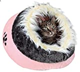 Trixie Pet Products 36283 Minou Cuddly Cave, Pink/Gray