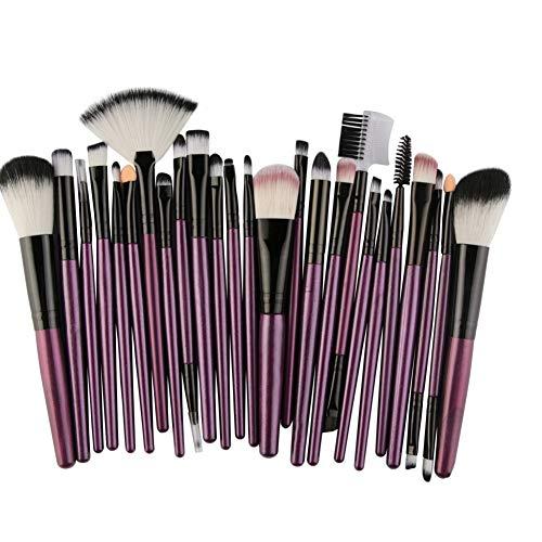 HANHOU Fond De Teint Cosmétique Synthétique Premium Blushing Blush Correcteurs Poudre Kabuki 25 Pcs Kit De Brosse De Maquillage Professionnel,3-OneSize