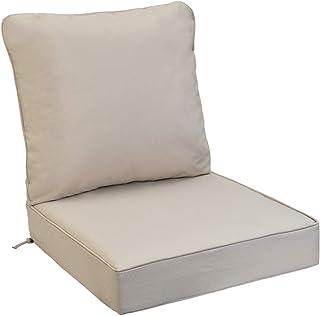 Sea Sore Chair Seat Cushion with Ties Garden Cushion Chair Pads Chair Cushion 50x50/cm green//beige Reversible Cushion Set of 2