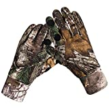 Camouflage Hunting Gloves Full Finger/Fingerless Gloves Pro Anti-Slip Camo Glove Archery Accessories Hunting Outdoors (M) (L) (L)