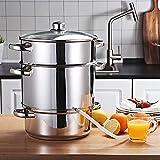 Toolsempire Fruit Steam Juicer Stainless Steel Vegetables Juicer Steamer pot, 11 Quart Multipots Kitchen Cookware for Making Juice, Jelly, Jams, Pasta