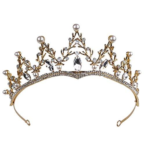 Cristal Tiara Couronne Mariée Vintage Chapeaux Accessoires de cheveux Princesse Couronne pour la Fête de Mariage HG235