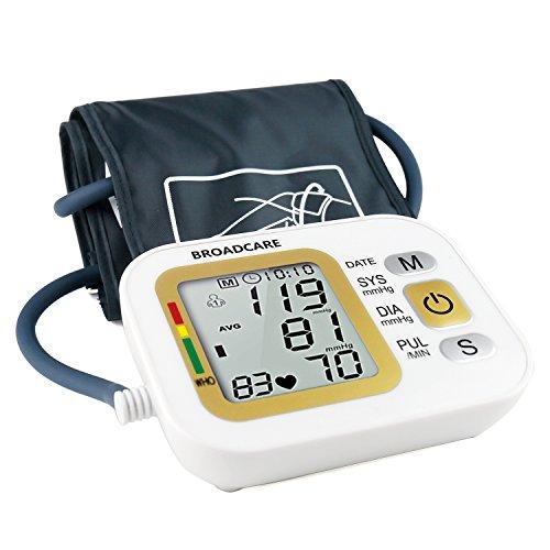 Misuratore Di Pressione Arteriosa Broadcare Con Fascia Da Braccio Regolabile Doppia Memoria Fino A 99 Registrazioni Ciascuno Funzionamento Con Batteria Al Litio Ricaricabile Incorporata