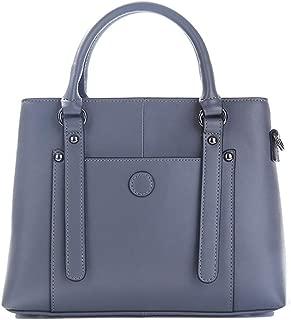 Fashion Simple Multi-Function Large Capacity Shoulder Bag Shoulder Slung Leather Handbag (Color : Blue)