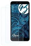 Bruni Schutzfolie kompatibel mit LG K20 Folie, glasklare Bildschirmschutzfolie (2X)