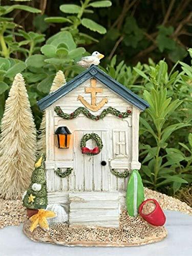 UNAMY ST Miniature Dollhouse Fairy Garden | Beach Sea Christmas House Door | Yard, Garden, Ornaments, Statues by UNAMY ST