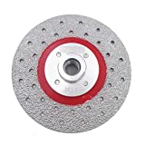 DT-DIATOOL Disco Diamante de Corte y Rectificado 115 mm x M14 Hoja de Sierra Soldado al Vacío para Piedra Mármol Hormigón Granito