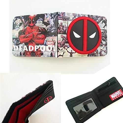 Deadpool Brieftaschen Cartoon Anime Dead Pool Tasche Geldbörse Fold Kartenhalter Brieftaschen Kurze Brieftasche