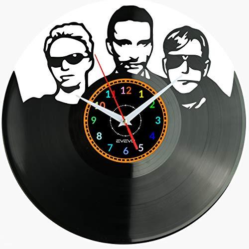 """Depeche Mode Reloj De Pared Vintage Accesorios De Decoración del Hogar Diseño Moderno Reloj De Vinilo Colgante Reloj De Pared Reloj Único 12"""" Idea de Regalo Creativo Vinilo Pared Reloj Depeche Mode"""