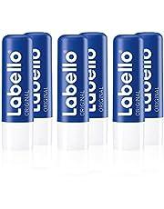 Labello Original lippenverzorgingsstift in 1 stuks (1 x 4,8 g), lippenverzorging voor natuurlijk mooie lippen, lippenbalsem zonder minerale oliën beschermt tegen uitdrogen.