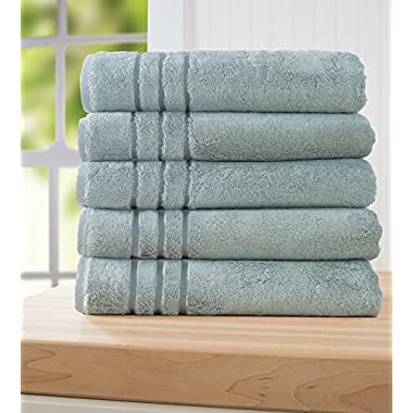 Cariloha Bamboo Bath Towel by Highly Absorbent - Odor Resistant (Tahitian Breeze)