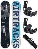 Airtracks Snowboard Set - TAVOLA Jungle 160 - ATTACCHI Master XL - SB Bag