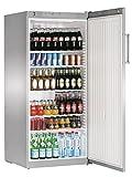 Liebherr FKvsl 5410 Premium Getränkekühlschrank, freistehend, silberfarben, 6 Roste, rechts, R600a, 1–15°C