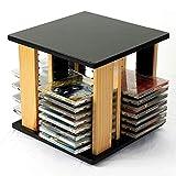 CD Storage Rack CD Storage Rack Desktop CD Rack 360 Degree Rotating CD CD Tray Ps4 CD Storage Bag DVD Holder Finishing Rack,Black