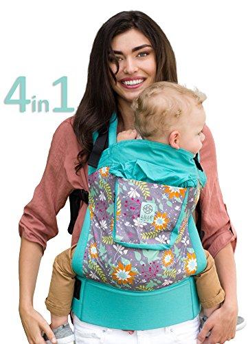 LÍLLÉbaby 4-in-1 Essentials Original Ergonomic Baby & Child Carrier, Lily Pond - 100% Cotton