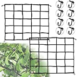 Trellis Netting Scrog Tent Net, 2x2FT Cucumber Trellis for Garden 3x3 Grow Tent, Garden Netting Trellis Net with Hooks for Plant Grow Tent Accessories