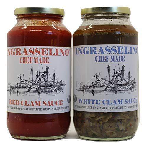 INGRASSELINO White & Red Clam Sauce combo 24oz 2 pack