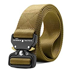 """Tactical Belt Length - 53 inch, Width:1.5 inch, fit for waist 42""""-46"""". Buckle Size: 2"""" in width and 5/16"""" in thickness. Heavy Duty Metal Buckle - This tactical belt features a military belt buckle made from heavy-duty metal. Quick Release - Intuitive..."""