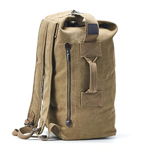 New Large-Capacity Rucksack Men's Travel Bag Mountaineering Backpack Men's Luggage Canvas Bucket Shoulder Bag Men's Backpack
