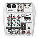 Mezclador de Audio 6W Bluetooth Bluetooth Tarjeta De Sonido De 4...