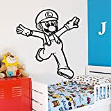 nkfrjz Mario Stickers Game Fototapete Removable Wall Decal für Wanddekoration Wallpaper wandaufkleber kinderzimmer XL 58cm X 63cm