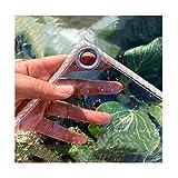 Lona Transparente Impermeable, Plástico con Ojales Heavy Duty Resistente Al Polvo Resistente Al Agua Antiedad, Plantas Cubiertas Nvernadero Exterior Jardín Toldo Aislamiento